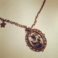 Star Wars Yoda Cameo Necklace by RabbitJewellery on Etsy