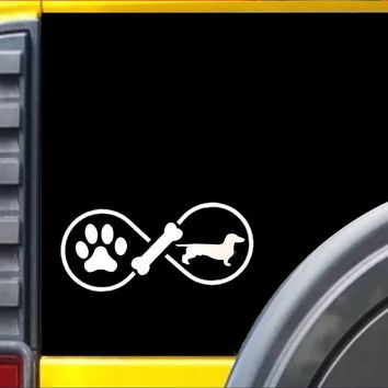 Dachshund Infinity Decal Sticker *J421*