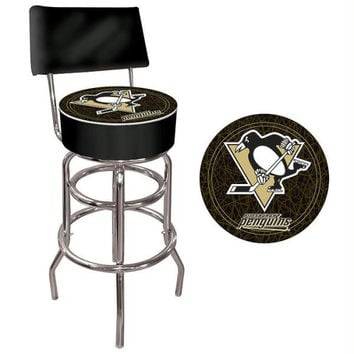 NHL Pittsburgh Penguins Padded Bar Stool with Back