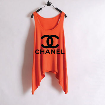 Chanel Orange Tank Top