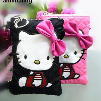 New Hello kitty Soft Mobile I phone Messenger Bag handbag Purse #yey-1288-2