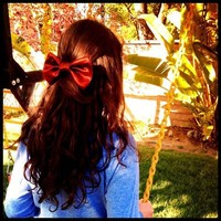 Burgundy Satin Bow from Sewn Bows