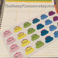 FREE SHIPPING D7 Thirty One Gifts 31 purse direct sales stickers for Erin Condren Life Planner/Plum Paper Planner - set of 24