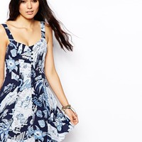 ASOS Sundress In Hawaiian Print