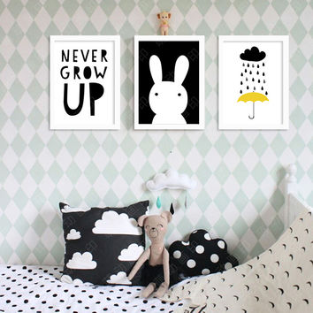 Nordic Decoration Never Grow Up Wall Painting Wall Art Canvas Art Print Wall Pictures Wall Posters Home Decor Frame Not Include