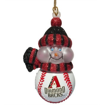 Arizona Diamondbacks - Logo All-Star Light-Up Snowman Ornament