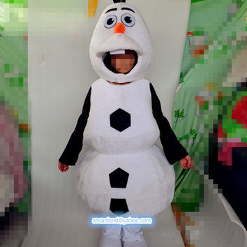 Christmas Children Frozen Olaf Mascot Costume,Children Cosplay Costume,Halloween Party Costume,Clothing for Children,Kids' Costume,Kids Olaf
