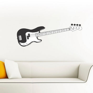 Bass Guitar wall decal