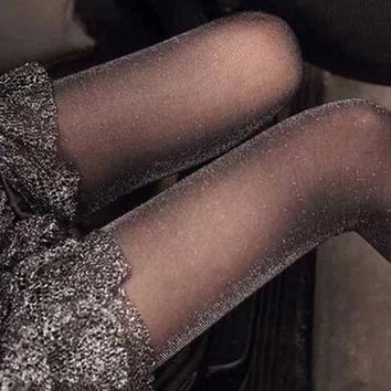 1 pc Sexy Female Charming Shiny Pantyhose Glitter Stockings for Women Glossy Tights Accessories