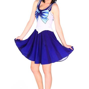 2017 New Nandi poems Dress Hot Sale new Style Bow-front Casual Woman Costume 10 Color Sailor Moon Style Cosplay Costume Fashion