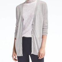 Washable Merino Boyfriend Cardigan | Banana Republic