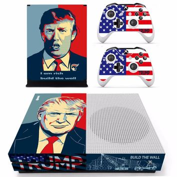 Donald Trump Vinly Skin Sticker Decals For XBOX One S Console With Two Wireless Controller Skin