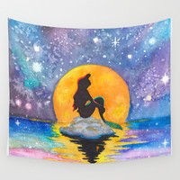 The Little Mermaid Galaxy Wall Tapestry by Brietron Art | Society6
