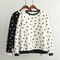 Mickey Mouse Pattern Print Sweater