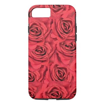 Radical Red Roses iPhone 7 Case