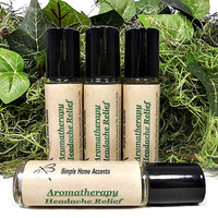 Aromatherapy Headache Relief, Essential Oil Therapy, Natural Headache Remedy, Vegan Pain Relief, Gift under 10