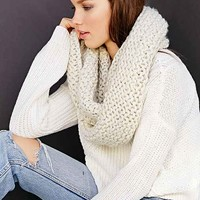 Bickley + Mitchell Link Knit Eternity Scarf- Ivory One