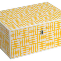 Jewelry Box, Yellow, Large, Jewelry Boxes & Chests