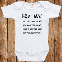 Baby Infant Bodysuit Anchor Man Quote Clothes One piece Romper Joke Boy Girl Fun Geek Adorable Cute Shower Gift Movie Inspired Ron Burgundy