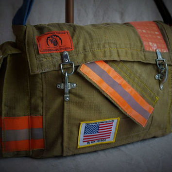 Original Firefighter Turnout Messenger Bag by Niki Rasor
