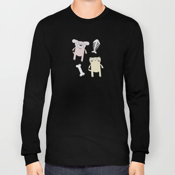 Raining Cats and Dogs Long Sleeve T-shirt by lalainelim