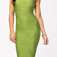 Green Sleeveless Bodycon Dress