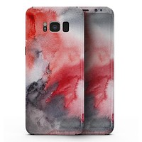 Red Pink 3 Absorbed Watercolor Texture - Samsung Galaxy S8 Full-Body Skin Kit