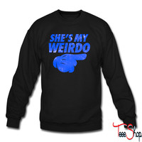 She's My Weirdo Galaxy crewneck sweatshirt
