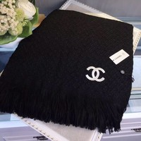 Chanel Women Fashion Cashmere Warm Winter Cape Scarf Scarves