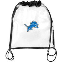 Detroit Lions Clear Drawstring Backpack