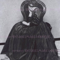Lovely Antique Early Victorian Mourning Portrait Of A Woman In Mourning Attire 5x7 Greeting Card