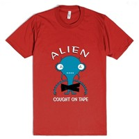 Alien Cought on Tape!-Unisex Red T-Shirt
