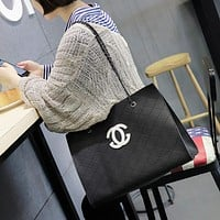 All-match Fashion Quilted Tote Single Shoulder Bag Women Chain Large Capacity Handbag Set Two-Piece