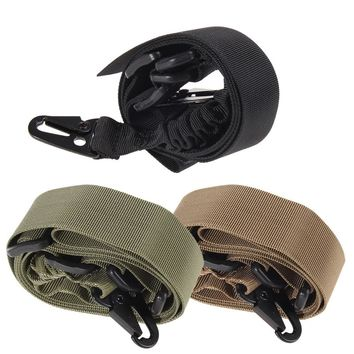 1.4m Adjustable Tactical Two Point Sling Bungee Strap Nylon Bungee Cord Camping Survival Elastic Rope with Side-release Buckle