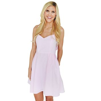 The Livingston Dress in Pink Seersucker by Lauren James - FINAL SALE