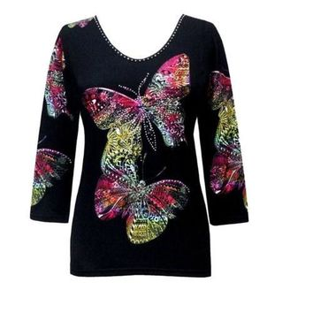 Valentina Butterfly Top in Claira
