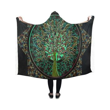 Hooded Blanket Tree Of Life 50x40 Inch