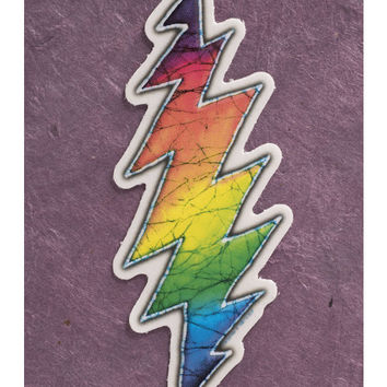 Rainbow Bolt Mini Sticker