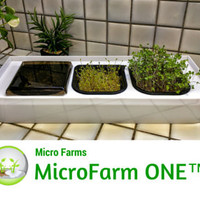 Micro Farm ONE, Micro Farm Countertop Unit that holds 3 Micro Farm Units for Continuous Production, includes supplies to grow 8 crops