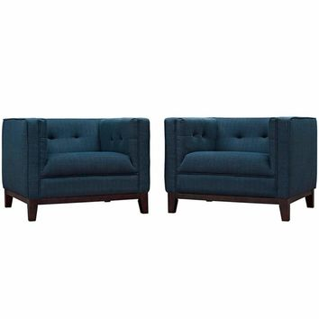 Serve Armchairs Set of 2, Azure
