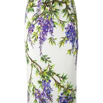 Dolce & Gabbana Wisteria Print Pencil Skirt - Julian Fashion - Farfetch.com