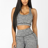 Full Mile Active Sports Bra - Grey/Black