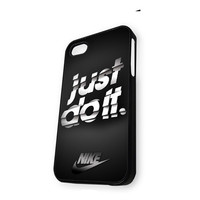 Black Nike Stripe Just Do It iPhone 5C Case