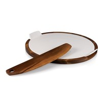 SheilaShrubs.com: Margherita Pizza Set - Acacia 968-00-506-000-9 by Picnic Time: Cutting Boards