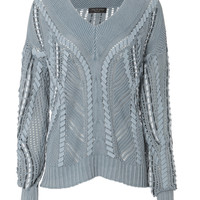 Lucie Pointelle Knit Sweater