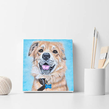 Pets gift, Pet portrait,  Dog portrait, Custom portrait, Custom dog portrait, Gift for dog lover, Memorial art, Christmas gift, Oil painting
