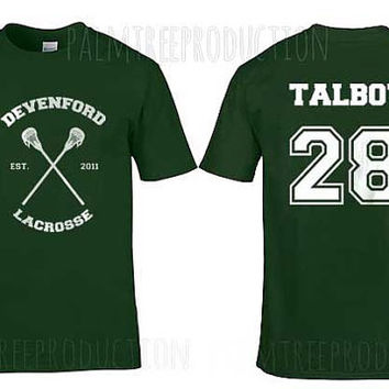 Talbot 28 brett talbot Devenford Lacrosse Wolf Men Short Sleeves Forest Green Tshirt tee