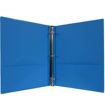 """1"""" Hard Cover (PVC Free) 3-Ring Binder - Neon Blue - CASE OF 24"""