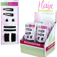 Set of 15 Assorted Hair Fasteners Case Pack 24
