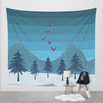 Birds flying high Wall Tapestry by Xiari | Society6